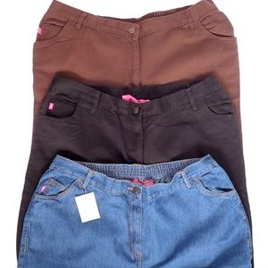 BUNDLE 3 WOMAN WITHIN Classic Fit Pants 20 Tall